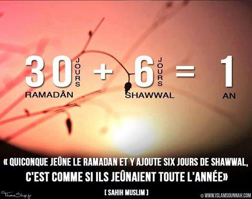 Jeûner six jours de Chawwal